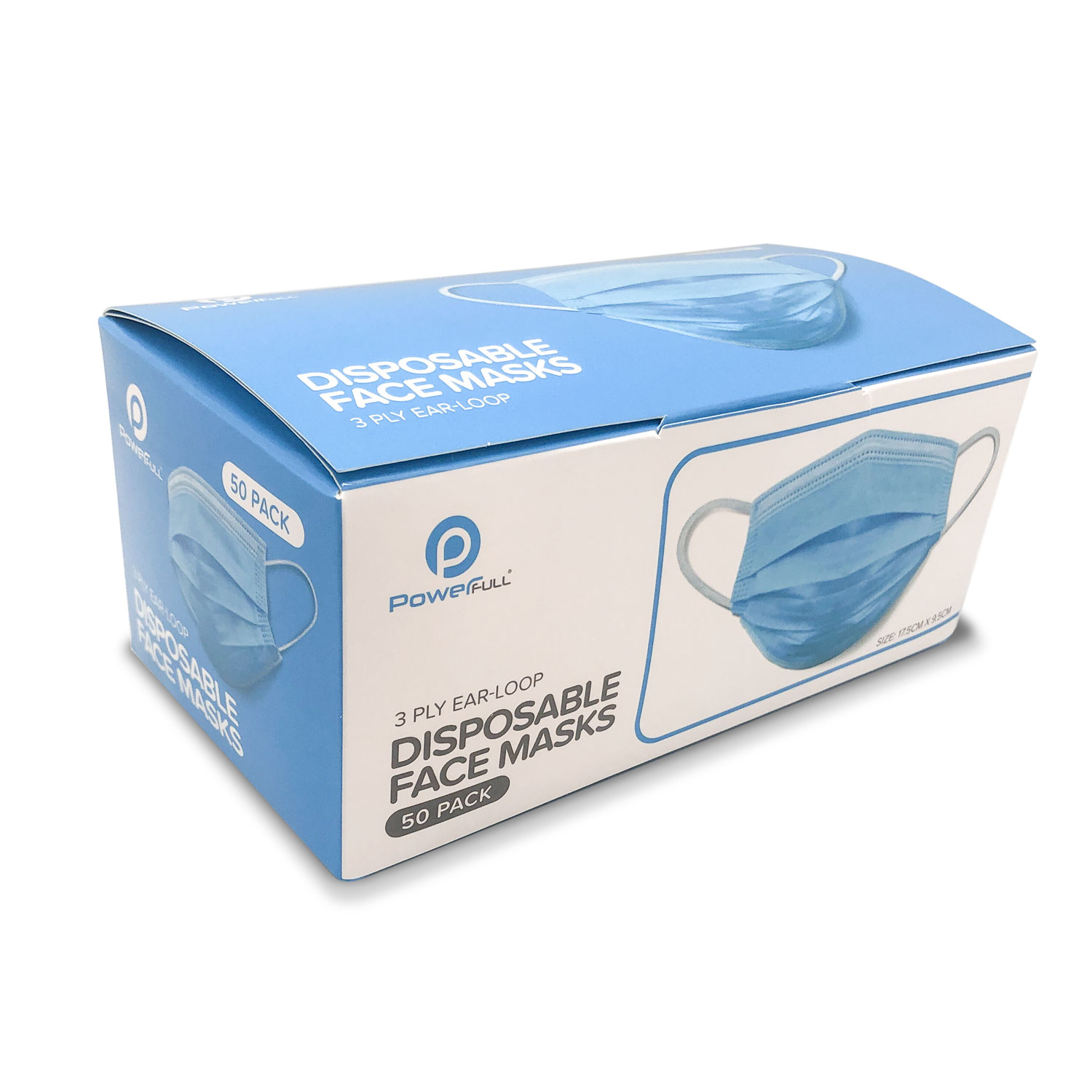 3-ply face mask pack of 50