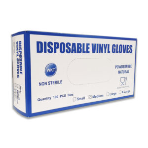 disposable vinyl gloves powder free natural Medium