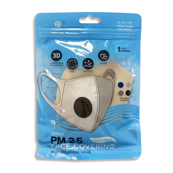 Reusable Face Mask With Valve - Taupe